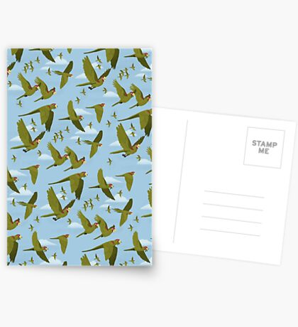 Parakeet Migration Greeting Card