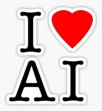 I Love (Heart) Ai Artificial intelligence  Ny parody Sticker