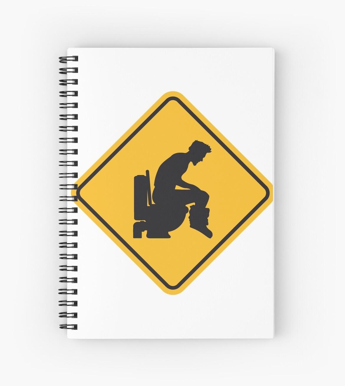 warning forbidden sign logo caution caution danger zone big toilet ...