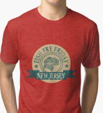 NEW JERSEY FISH FRY Tri-blend T-Shirt