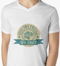 NEW JERSEY FISH FRY Men's V-Neck T-Shirt