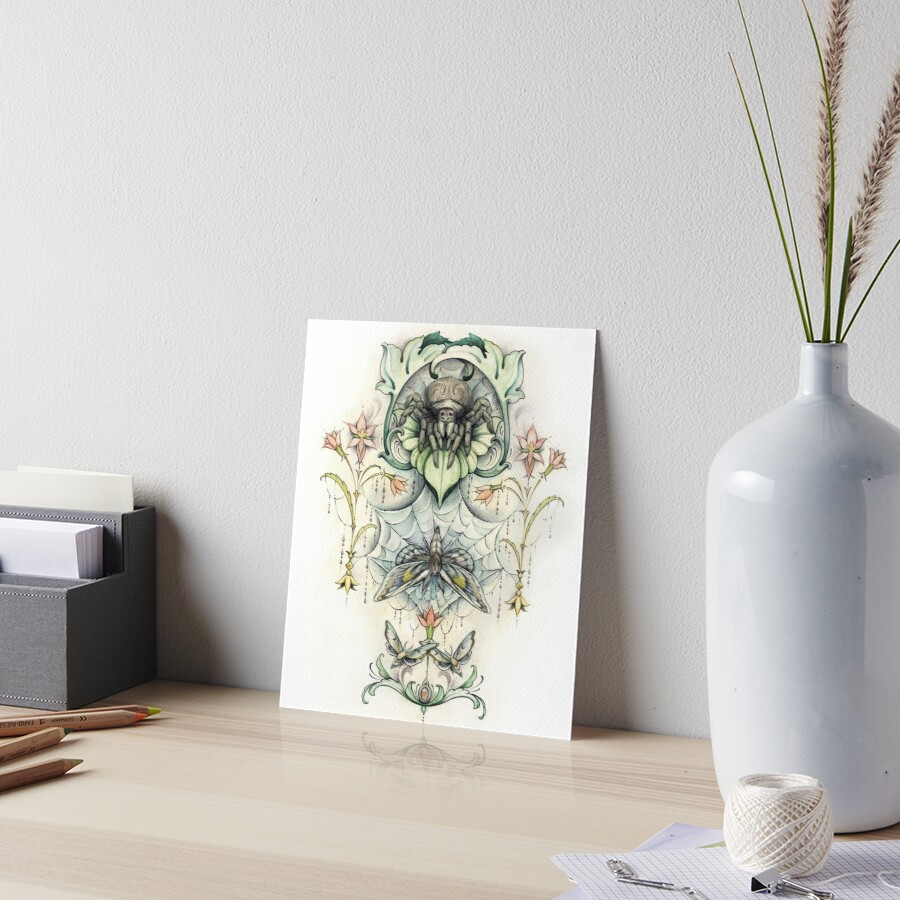 Antique pattern - Spider and Moths by fioski