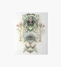 Antique pattern - Spider and Moths Art Board