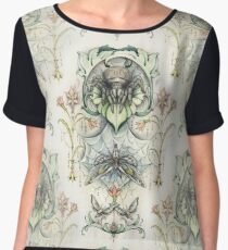 Antique pattern - Spider and Moths Chiffon Top