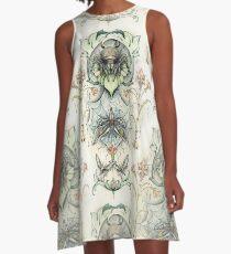 Antique pattern - Spider and Moths A-Line Dress