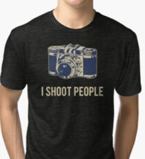 I Shoot People Photography Camera Tri-blend T-Shirt