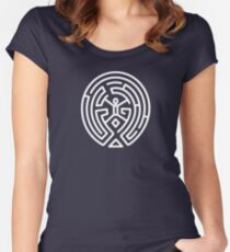 Westworld Maze Original Women's Fitted Scoop T-Shirt