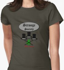 Bah Humbug Scrooge SocieTEE design Women's Fitted T-Shirt