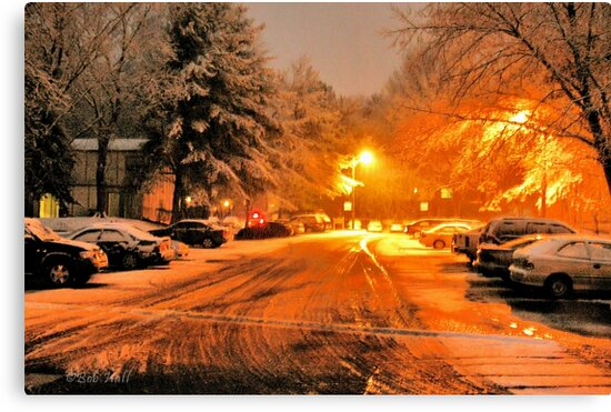 """'""""A Snowy Evening in Knoxville' (a series, no.1)""""... prints and products by © Bob Hall"""