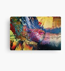 Purple gold yellow abstract Canvas Print