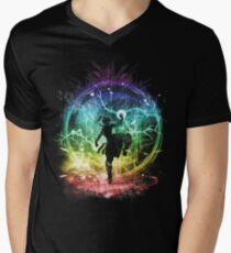 Wasser Stamm Sturm T-Shirt mit V-Ausschnitt für Männer