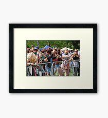 Music festival fans Framed Print