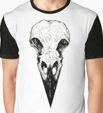 Raven Skull Graphic T-Shirt
