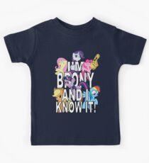 I'M BRONY AND I KNOW IT! Kids Tee