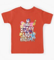 I'M BRONY AND I KNOW IT! Kids Clothes