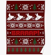 CHRISTMAS SWEATER KNITTED PATTERN Poster
