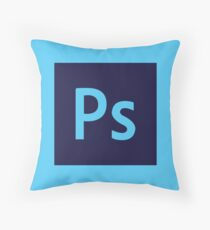 Adobe Photoshop Icon Throw Pillow