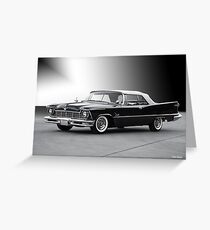 1957 Chrysler Crown Imperial Convertible Greeting Card