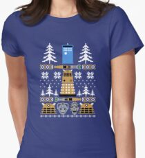 Doctor Ugly Sweater Who Women's Fitted T-Shirt