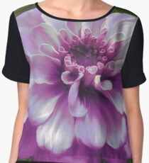 Beautiful Purple Zinnia Painting Women's Chiffon Top