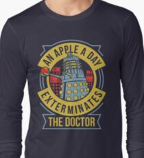 An Apple A Day Exterminates The Doctor Long Sleeve T-Shirt