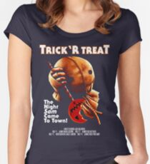 Trick 'r Treat Halloween Mashup T-Shirt Women's Fitted Scoop T-Shirt