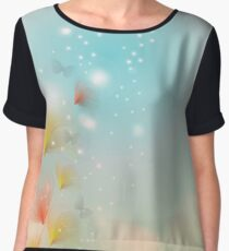 Blossom with bokeh effect Women's Chiffon Top