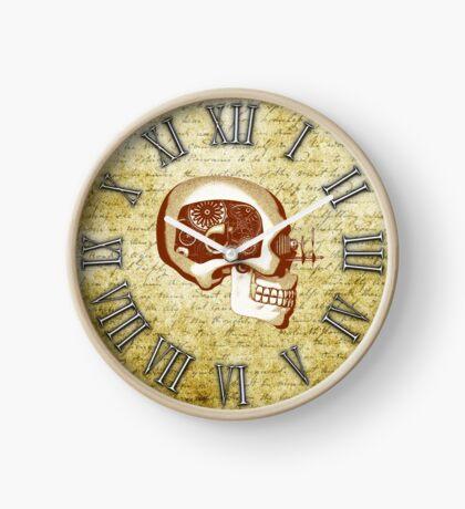 Vintage Steampunk Clock No.6, Steampunk Automaton Skull Clock