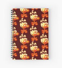 Fire Peashooter - Pixelated Spiral Notebook