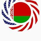 Belarusian American Multinational Patriot Flag Series by Carbon-Fibre Media