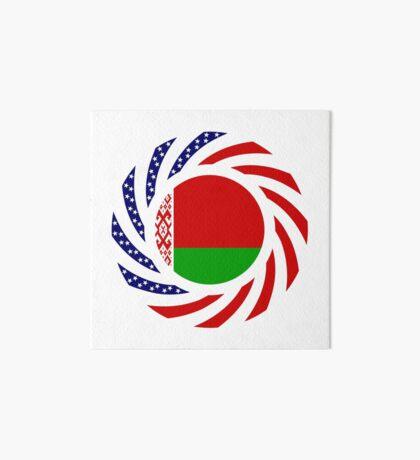 Belarusian American Multinational Patriot Flag Series Art Board Print