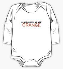On wednesdays we wear orange.  Kids Clothes