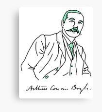 Minimalist Arthur Conan Doyle Canvas Print