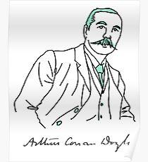 Minimalist Arthur Conan Doyle Poster