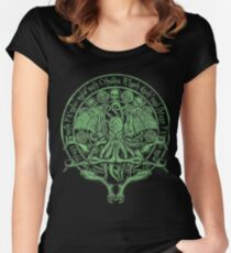 The Idol Sick Green Variant Cthulhu God Art Women's Fitted Scoop T-Shirt