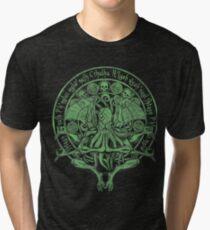 Camiseta de tejido mixto The Idol Sick Green Variant Cthulhu Dios Arte