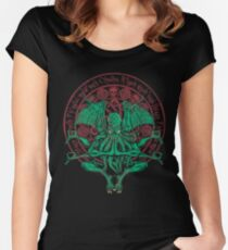 The Idol Cthulhu God Art Women's Fitted Scoop T-Shirt