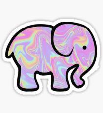 Holographic Elephant Sticker
