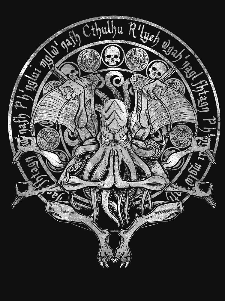 Die Idol Cthulhu Gott Art White Variante von APawlicki
