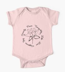 Serenity Tranquility Lotus (Black) Kids Clothes