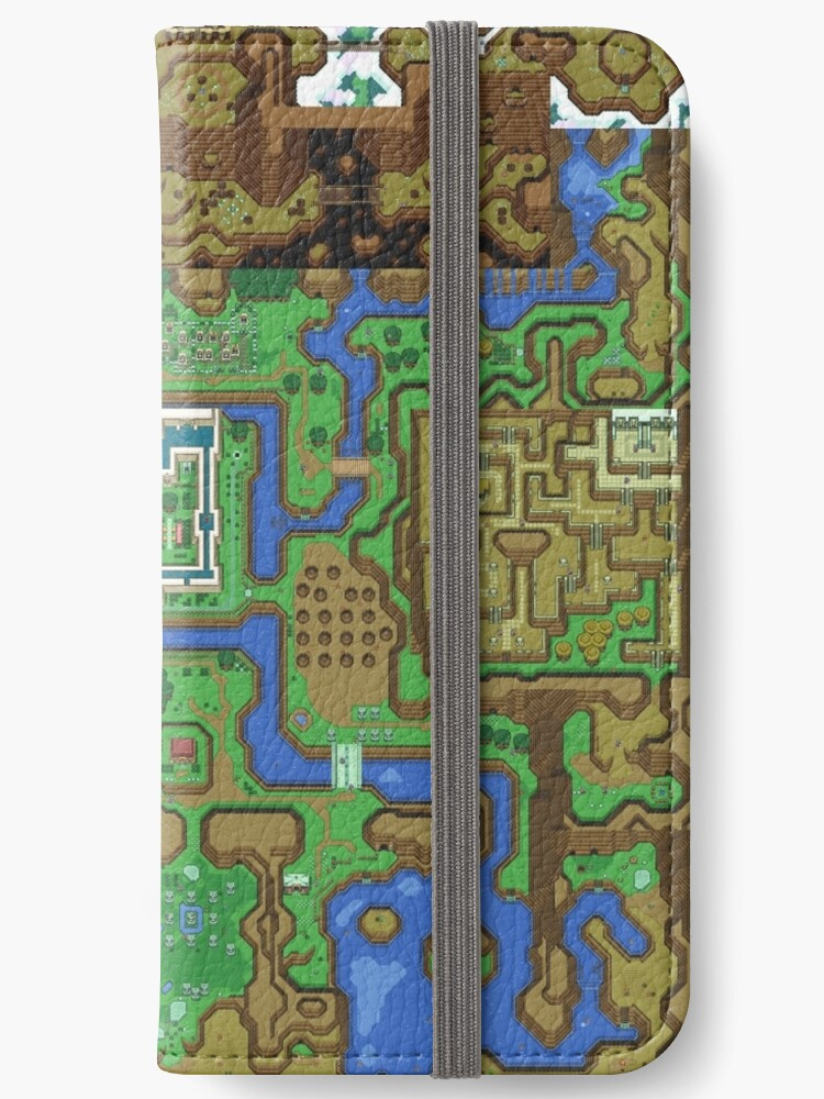 Link To The Past Light World Map.The Legend Of Zelda A Link To The Past Map Iphone Wallets By