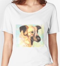 Water Color Dog Portrait  Women's Relaxed Fit T-Shirt