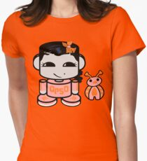 Opso Yo O'BABYBOT (and Epo) Womens Fitted T-Shirt