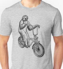Sloth Riding Bike Unisex T-Shirt