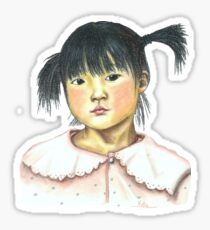 Petite Fille Chinoise - Chinese Little Girl Sticker