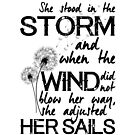 She stood in the storm...beautiful quote by stylecomfy