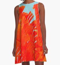 Flame On Island Paradise A-Line Dress