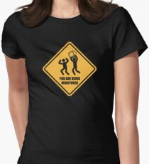 You Are Being Monitored Womens Fitted T-Shirt