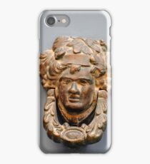 Ornate doorhandle with human face iPhone Case/Skin