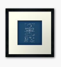 Rocking Oscillating Bathtub Patent Engineering Blueprint Framed Print